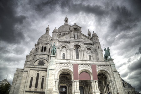 18th: Montmartre Paris. Basilica of the Sacred Heart of Jesus