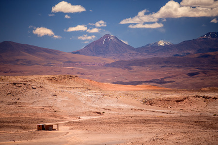 san pedro: beautiful view on the volcano licancabur near San Pedro de Atacama, Chile, South America