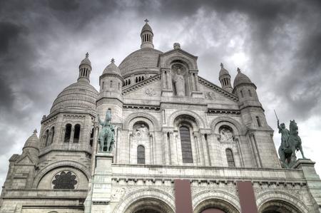 holidays vacancy: Montmartre Paris. Basilica of the Sacred Heart of Jesus