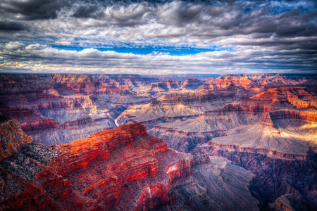 rock canyon: famous  view of Grand Canyon , Arizona, USA