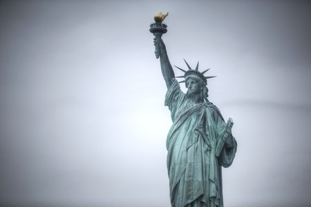 patriotic: Statue of Liberty in New York City. USA