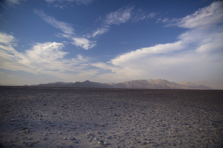 the height of a rim: Andes in the Nazca desert. Peru . One of the hottest places on the planet. Stock Photo