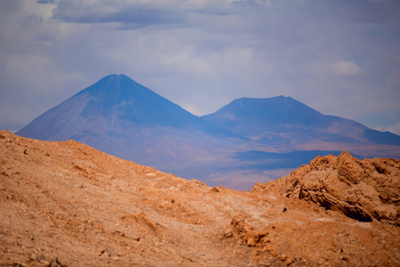 beautiful view on the volcano licancabur near San Pedro de Atacama, Chile, South America