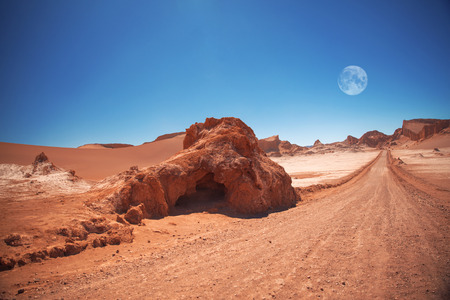 moon  desert: The moon in the Moon Valley in Atacama Desert, Chile