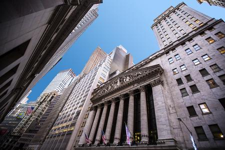 Highrisegebäude in Wall Street Finanzbezirk, New York City