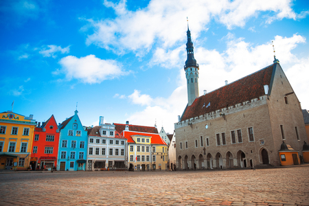 town hall square: Tallinn, Estonia. Very beautiful old Town Hall Square