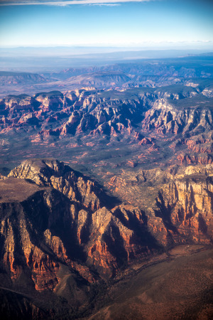 Grand Canyon aerial view. picturesque landscape of America Stock Photo