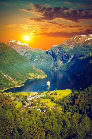 norwegian: scenic landscapes of the northern Norwegian fjords.