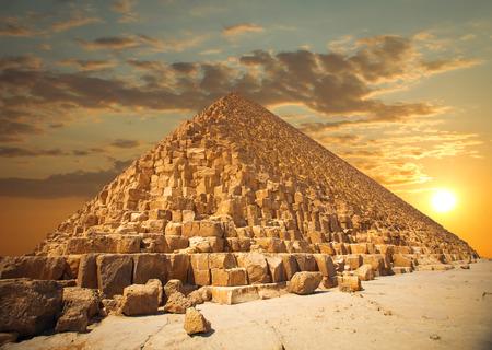 piramides van de farao's in Giza. Caïro, Egypte Stockfoto