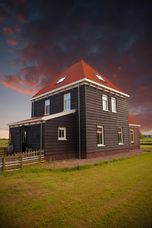 volendam: Traditional houses in Holland town Volendam, Netherlands Editorial