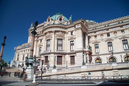 garnier: Facade of The Opera or Palace Garnier. Paris, France