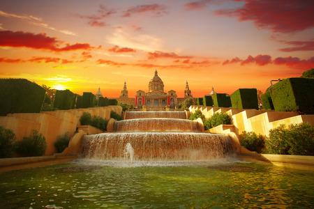 espanya: National Museum in Barcelona,Placa De Espanya,Spain.