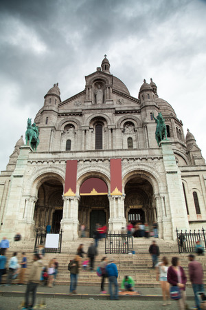 sacred heart: Montmartre Paris. Basilica of the Sacred Heart of Jesus
