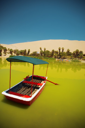 oasis of Huacachina in the desert of Ica, Peru