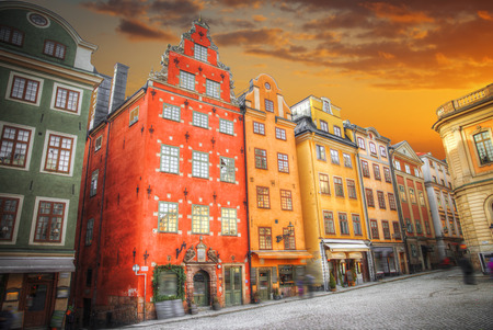 Stortorget place in Gamla stan, Stockholm. sweden Stock Photo