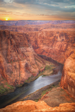 Famous Horseshoe Bend of the Colorado River in northern Arizona
