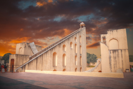 maharaja: Jantar Mantar - the observatory, built in 1727-1734 gg. Rajput by Maharaja Sawai Jai Singh in which he founded shortly before the city of Jaipur.