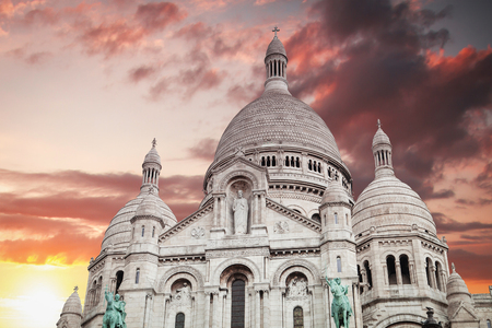 Montmartre Paris. Basilica of the Sacred Heart of Jesus