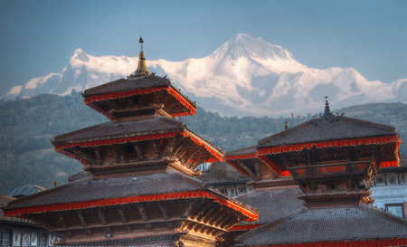 Patan .Ancient Stadt in Kathmandu-Tal. Nepal Standard-Bild - 72767825