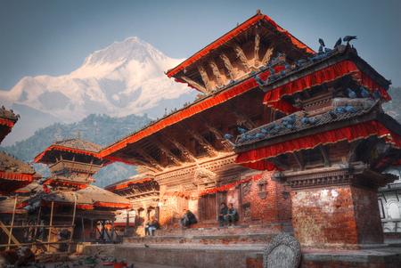 パタン。カトマンズ盆地の古都。ネパール