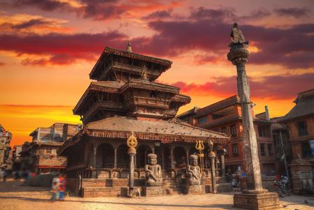 寺院のダルバール広場バクタプル、valey カトマンズ、ネパール。