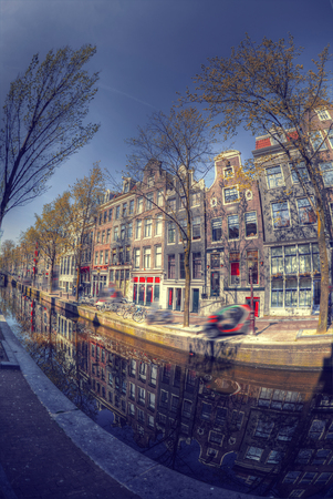 Traditional old buildings in Amsterdam, the Netherlands Stockfoto