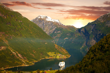 scenic landscapes of the northern Norwegian fjords.
