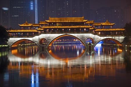 Anshun Bridge and the new development in Chengdu in southwest China
