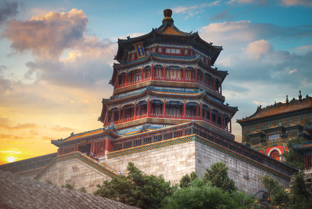 Summer Imperial Palace is the summer residence of the emperors on the outskirts of Beijing. Banco de Imagens - 81704158