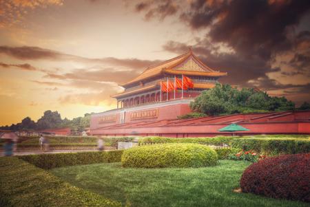 天安門広場は中華人民共和国の首都、北京の中心部に位置しています。 報道画像