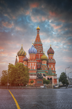 Red square in the center of Moscow. Russian Federation Stock Photo