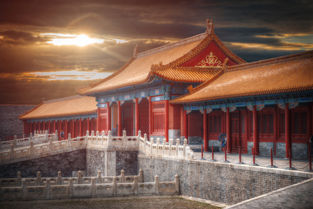 Forbidden City is the largest palace complex in the world. Located in the heart of Beijing, near the main square of Tiananmen Editorial