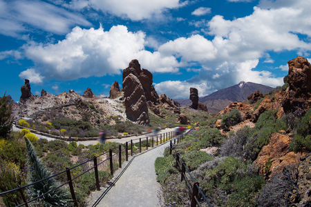 El Teide National Park, Tenerife, Canary Islands, Spain Фото со стока - 95214619