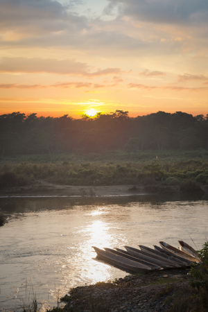 Chitwan National Park.  is mainly covered by jungle.