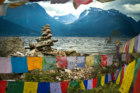 flags develop in the foothills of the Himalayas. Tibet