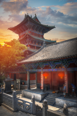 Shaolin is a Buddhist monastery in central China. Located on Songshan Mountain Stock Photo