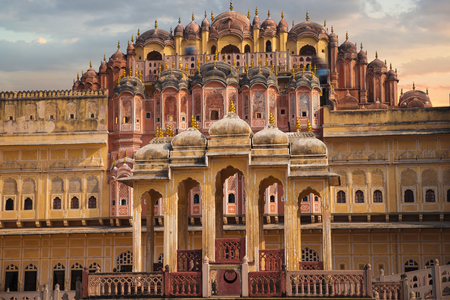 Hawa Mahal  is a harem in the palace complex of the Jaipur Maharaja, built of pink sandstone in the form of the crown of Krishna
