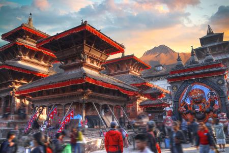 Patan .Ancient city in Kathmandu Valley. Nepal Фото со стока