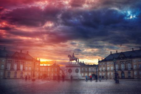 The Royal Amalienborg Palace in Copenhagen. Denmark