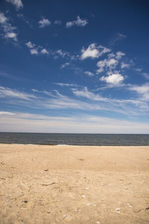 summer Baltic sea. Clouds over water