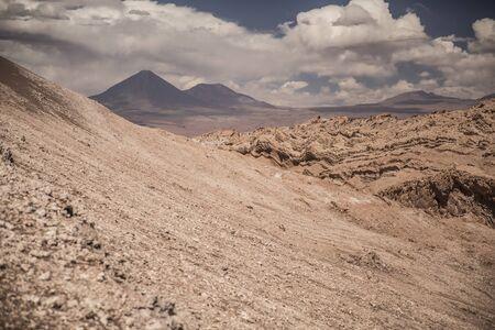 volcano in Atacama. Next to the Lunar Valley. Chile. Фото со стока