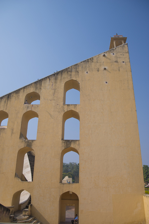 Jantar Mantar - the observatory, built in 1727-1734 gg. Rajput by Maharaja Sawai Jai Singh in which he founded shortly before the city of Jaipur.