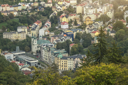old streets in the Czech city of Karlovy Vary 写真素材