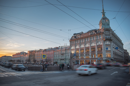 Nevsky prospekt - the main street of St. Petersburg. Russia