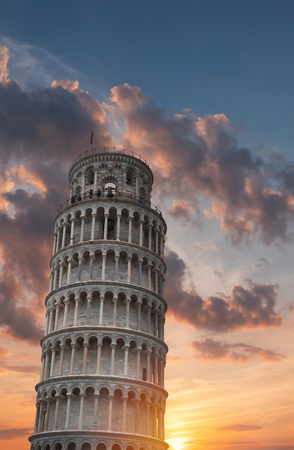 Leaning Tower of Pisa. Italy. Europe 免版税图像