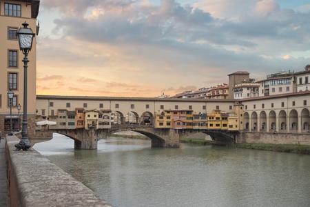 Ponte Vecchio - Bridge in Florence on the Arno River