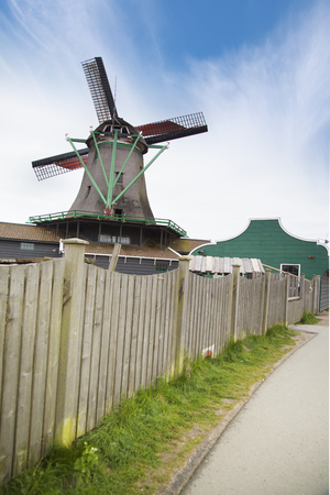 Traditional houses in Holland town Volendam, Netherlands 版權商用圖片