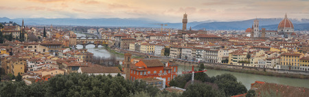 Florence city view from above. Italy