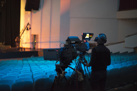 preparation for shooting a concert on television