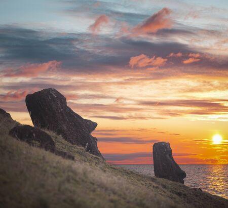 Moais at Ahu Tongariki (Easter island, Chile)